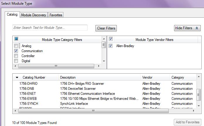 Logix Designer - Failed to Create Module Profile - Allen