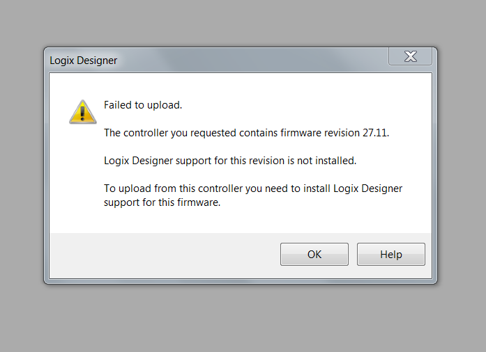 logix designer support for firmware revision 24.11