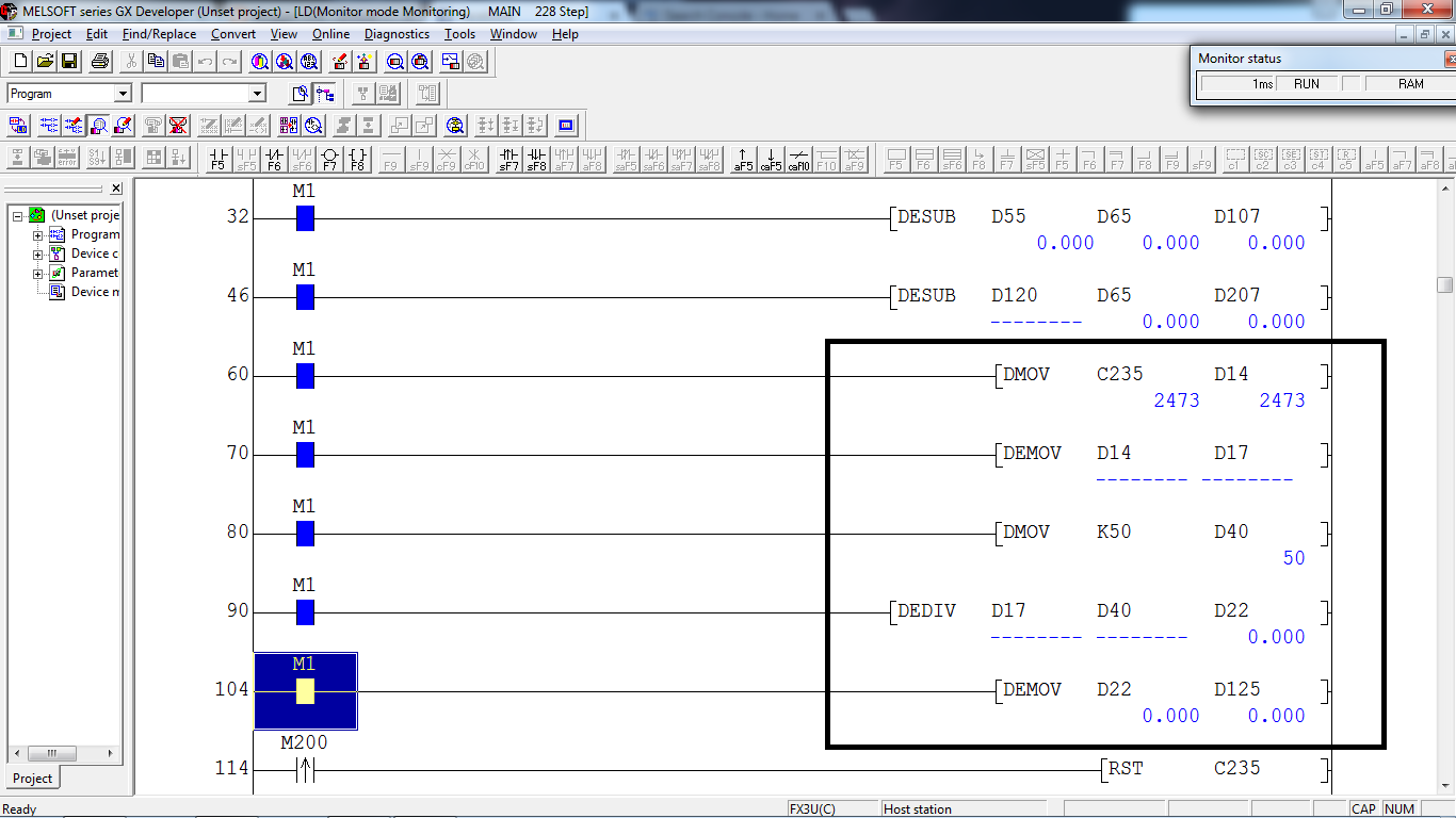 Convert int to float - Mitsubishi - Forums MrPLC com