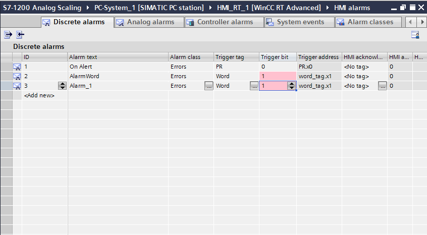 TIA Portal V13- Alarm for Bool Data type - Siemens - Forums