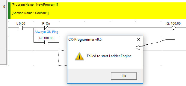 Problem failed to start ladder engine - CX-Programmer - Forums.MrPLC.com
