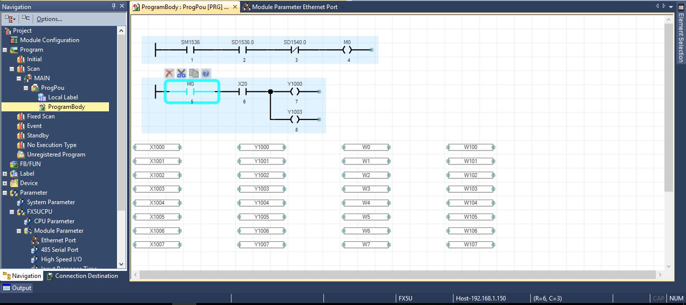 CC-Link IE Field Basic (FX5U + A800-E) - Mitsubishi - Forums