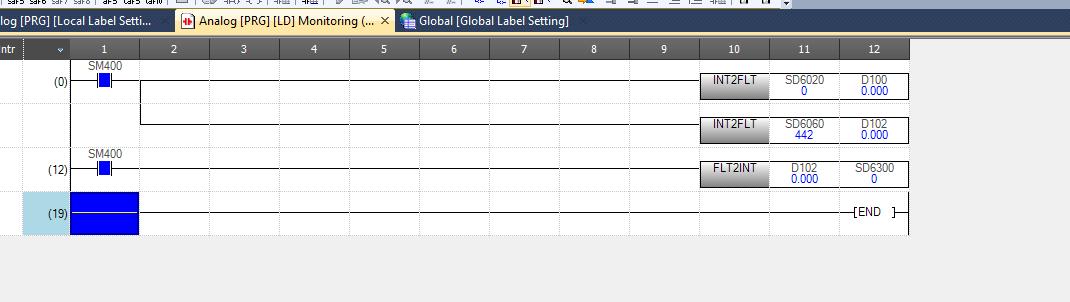Fx5u Analog Input Programming