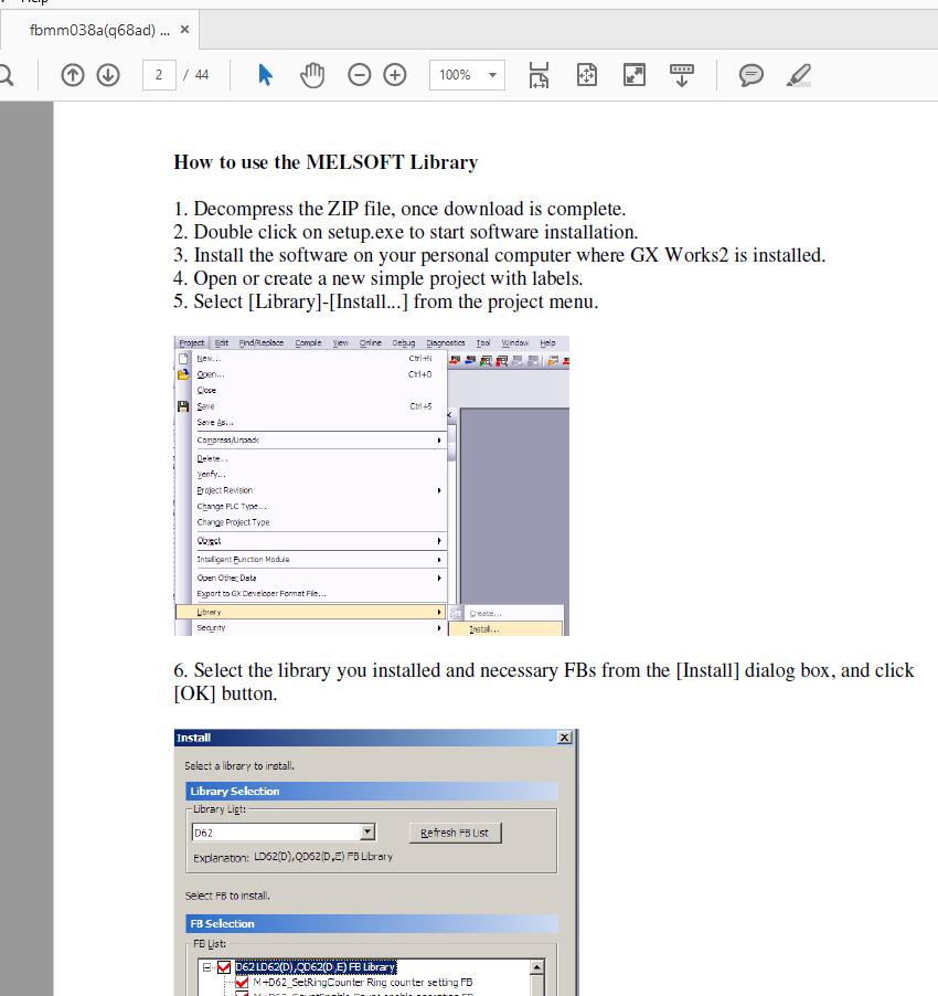 Gx Works 2 MELSOFT Library? - Mitsubishi - Forums MrPLC com