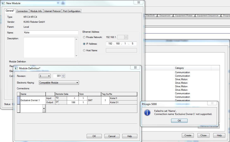 Problems Configuring Kuka KRC4 EDS File To Studio 5000 - Allen