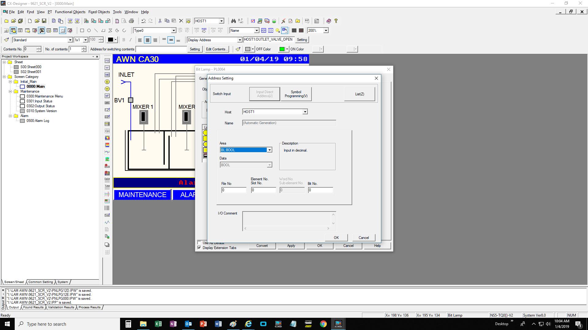 Compact Logix Tag Address for Omron NS5 HMI - Allen Bradley