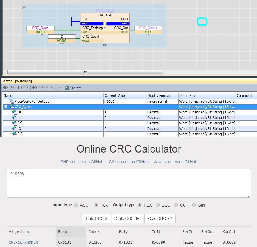 How to calculate CRC? GX Works 3 / FX5 - Mitsubishi - Forums